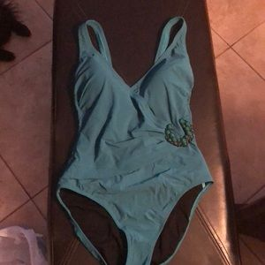 Profile by Gottex jade green 1 piece swimsuit NWOT